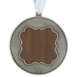 暗いクルミのブラウンのタケ木製の穀物の一見 オーナメント