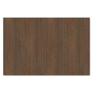 暗いクルミのブラウンのタケ木製の穀物の一見 薄葉紙