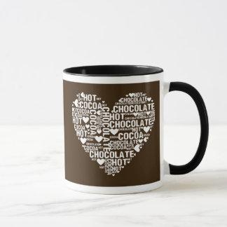 暗いココアのココア愛マグ マグカップ