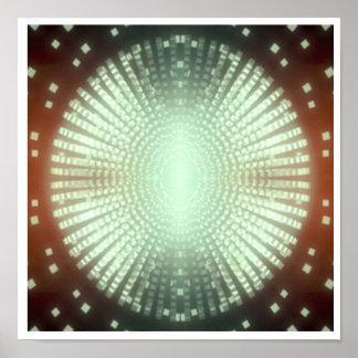 暗いコーナーのための焦点の華麗な芸術: 輝き ポスター