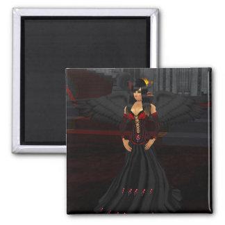 暗いゴシックの天使の磁石 マグネット