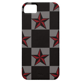 暗いゴシックの星パターン iPhone SE/5/5s ケース