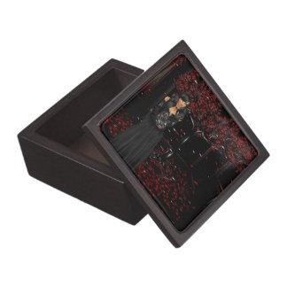 暗いゴシック様式記念品箱 ギフトボックス