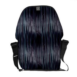 暗いゴシック様式金属効果の通勤者のバッグ メッセンジャーバッグ