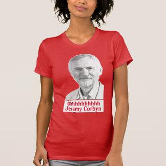 暗いジェレミーCorbyn Glastonburyの詠唱のTシャツの女性 Tシャツ