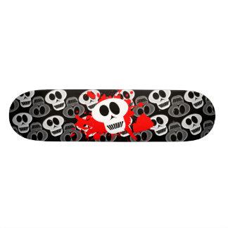 暗いスカル スケートボード