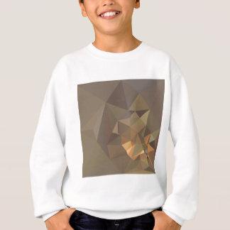 暗いタンブラウンの抽象的で低い多角形の背景 スウェットシャツ