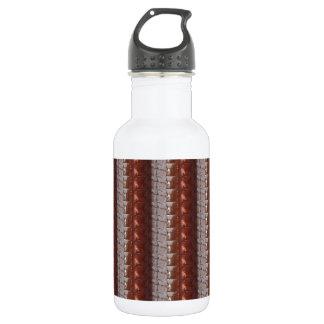 暗いチョコレートによって刻まれる刺繍された一見 ウォーターボトル