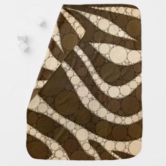 暗いチョコレートシマウマの抽象芸術 ベビー ブランケット