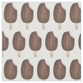 暗いチョコレート・アイス・クリームのアイスキャンデーの生地 ファブリック