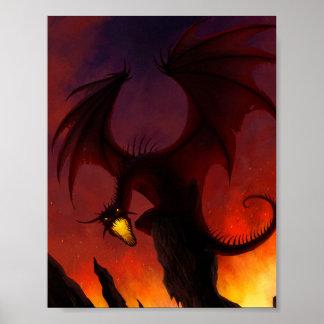 暗いドラゴンポスター ポスター