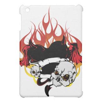 暗いハートの黒くおよび赤い入れ墨のデザイン iPad MINIカバー