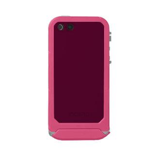 暗いパンジーの紫色(無地)の~ ウォータープルーフiPhone SE/5/5sケース
