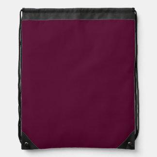 暗いパンジーの紫色(無地)の~ ナップサック