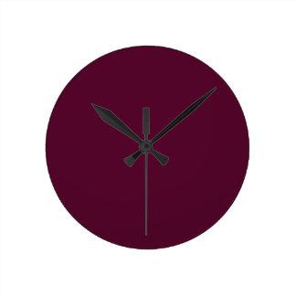 暗いパンジーの紫色(無地)の~ ラウンド壁時計