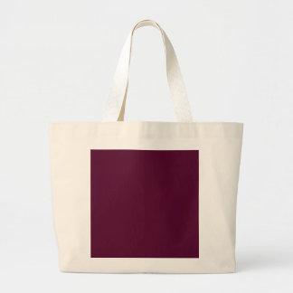 暗いパンジーの紫色(無地)の~ ラージトートバッグ