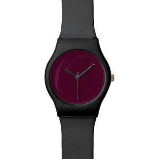 暗いパンジーの紫色(無地)の~ 腕時計