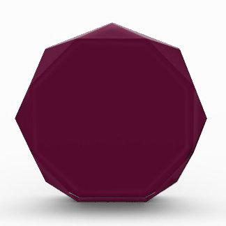 暗いパンジーの紫色(無地)の~ 表彰盾