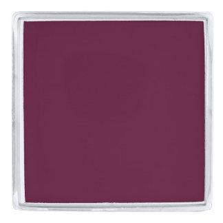 暗いパンジーの紫色(無地)の~ 銀色 ラペルピン