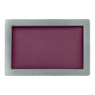暗いパンジーの紫色(無地)の~ 長方形ベルトバックル
