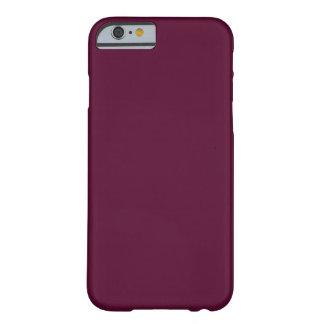 暗いパンジーの紫色(無地)の~ BARELY THERE iPhone 6 ケース