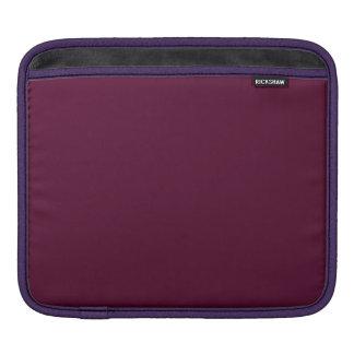 暗いパンジーの紫色(無地)の~ iPadスリーブ