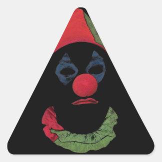 暗いピエロ 三角形シール