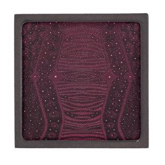 暗いピンクのグリッターのシマウマの抽象芸術 ギフトボックス