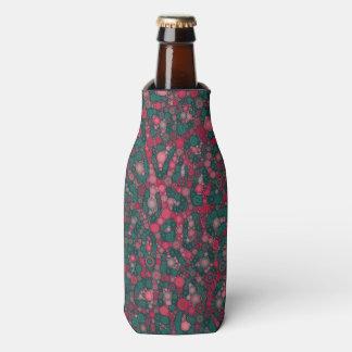 暗いピンクのターコイズの円のチータ ボトルクーラー