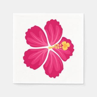 暗いピンクのハイビスカスの花 スタンダードカクテルナプキン