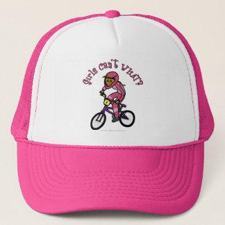 暗いピンクの女の子BMX キャップ