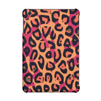 暗いピンクの黄橙色のチータの抽象芸術