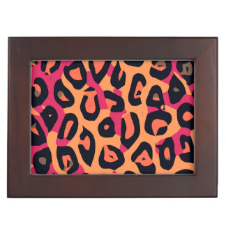 暗いピンクの黄橙色のチータの抽象芸術 宝石箱