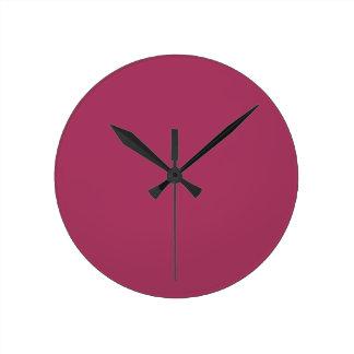 暗いピンク色1 ラウンド壁時計