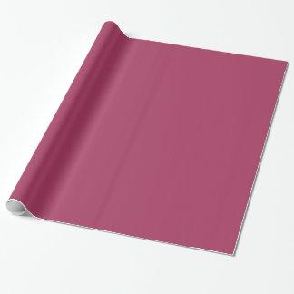 暗いピンク色1 ラッピングペーパー