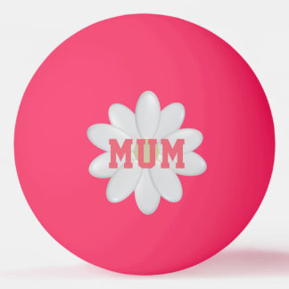暗いピンポン球の母のデイジーの白熱 卓球ボール