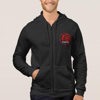 暗いフード付きスウェットシャツのオリジナルのロゴ パーカ