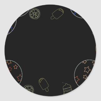 暗いブランデーグラス ラウンドシール