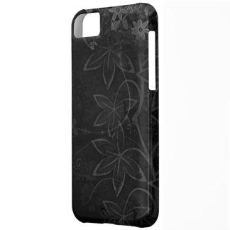 暗いベクトル花の抽象芸術 iPhone5Cケース