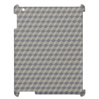 暗いベージュ色3D立方体の滝のように落ちること iPadケース