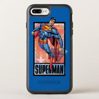 暗いボーダーを持つスーパーマン オッターボックスシンメトリーiPhone 8 PLUS/7 PLUSケース