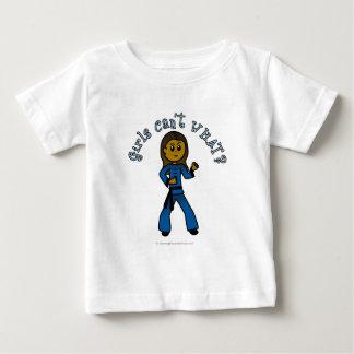 暗いレディースKung Fu ベビーTシャツ