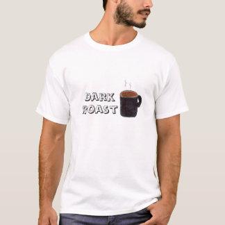 暗いローストのコーヒー Tシャツ