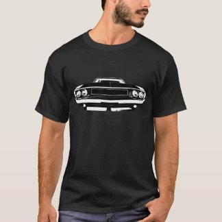 暗いワイシャツのための白の古い挑戦者 Tシャツ