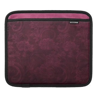暗いワインのダマスク織のデザインのiPadの袖 iPadスリーブ