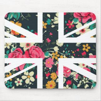 暗いヴィンテージのばら色の英国国旗イギリス(イギリス)の旗 マウスパッド