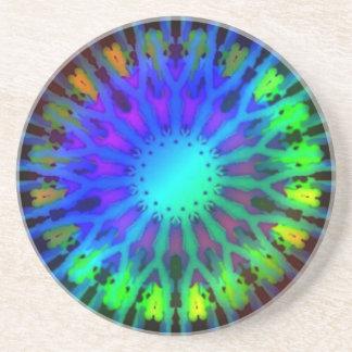 暗い万華鏡のように千変万化するパターンの芸術の白熱 コースター