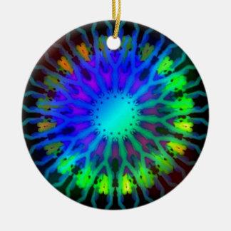 暗い万華鏡のように千変万化するパターンの芸術の白熱 セラミックオーナメント