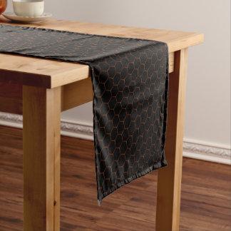 暗い六角形 ショートテーブルランナー