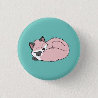 暗い印が付いている睡眠の明るいピンクのキツネのキット 3.2CM 丸型バッジ
